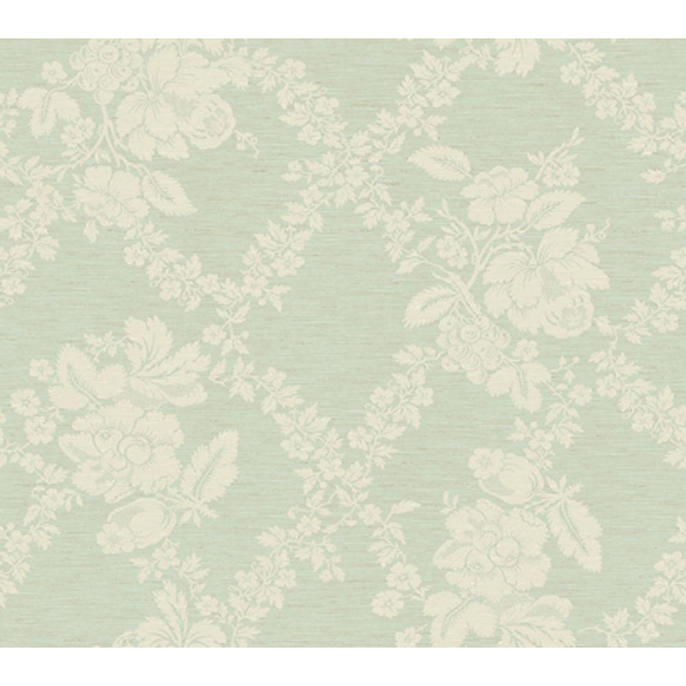 York Wallcoverings 60.75 sq. ft. Fruit Leaf Floral Jacquard Wallpaper