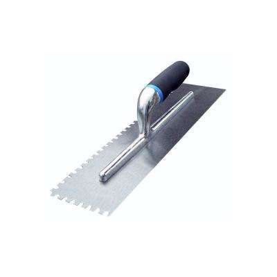 16 in. x 4 in. U-Notch Margin Trowel with Notch Size 1/16 in. x 1/32 in. x 1/12 in. with Comfort Grip Handle