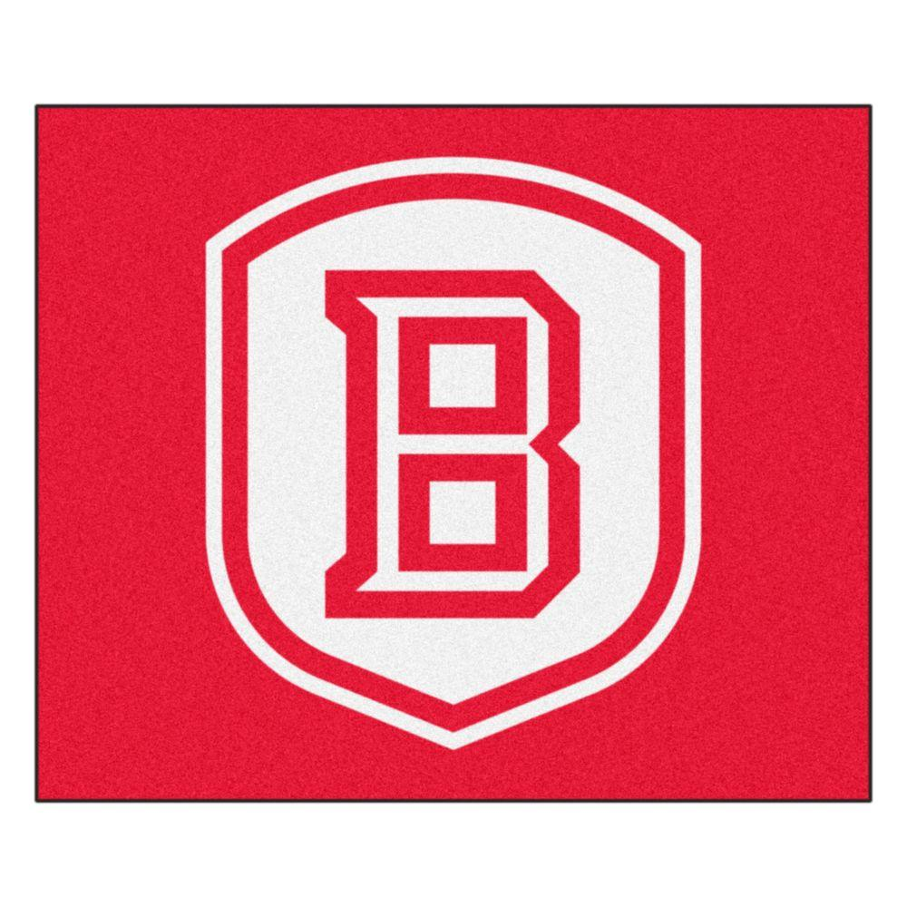 NCAA Bradley University Red 5 ft. x 6 ft. Area Rug