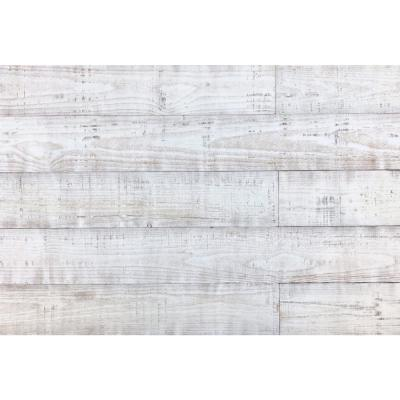 Thermo-treated 1/4 in. x 5 in. x 4 ft. White Barn Wood Wall Planks (10 sq. ft. per 6-Pack)