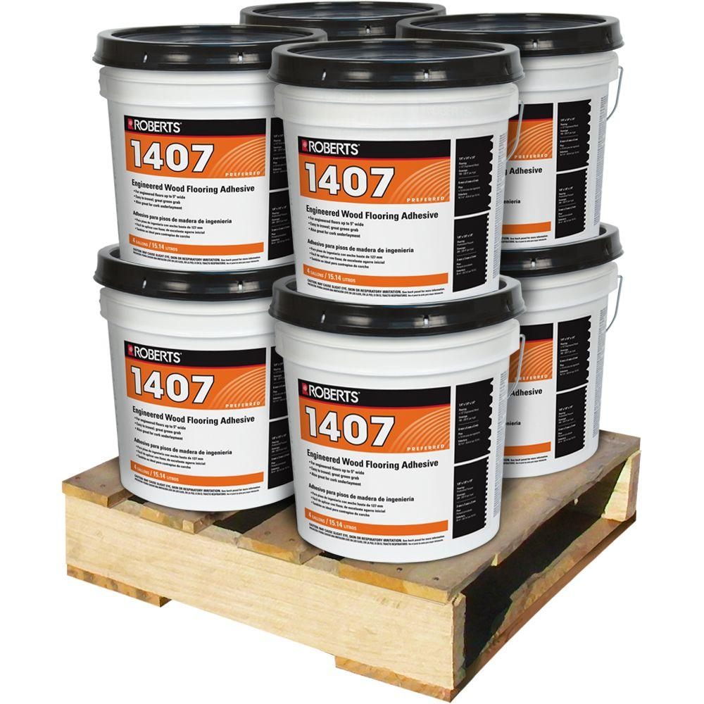 4 Gal. Engineered Wood Flooring Glue Adhesive (8 Pail Pallet)