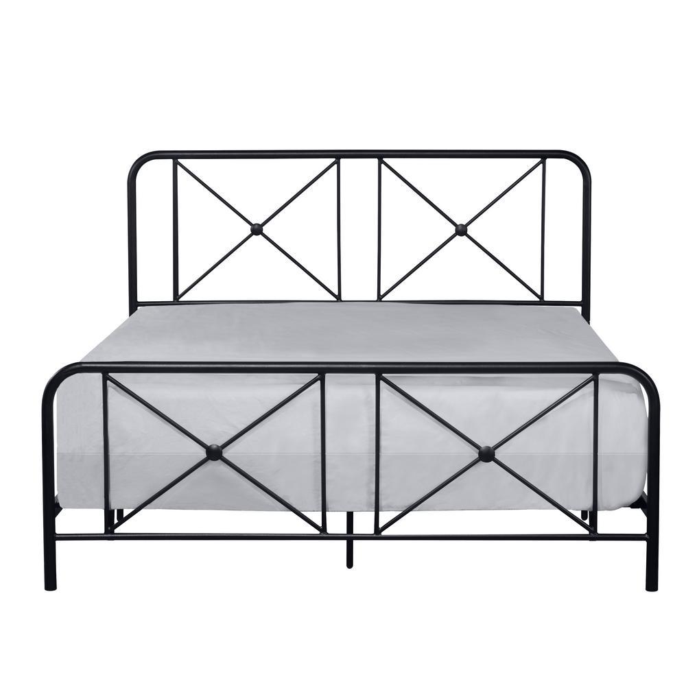 Williamsburg Black Full Double X Bed