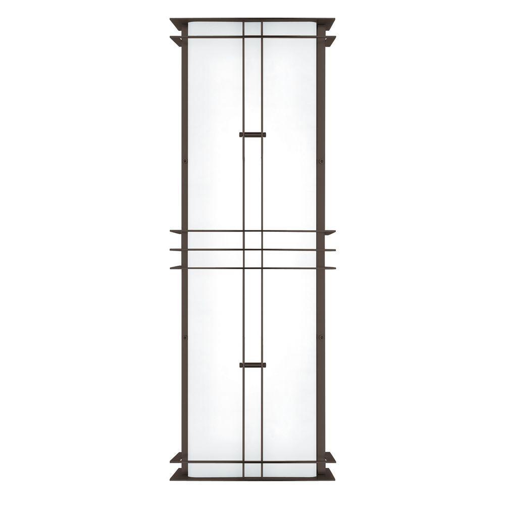 Modular Industrial 2-Light Outdoor Bronze Medium Fluorescent Wall Sconce