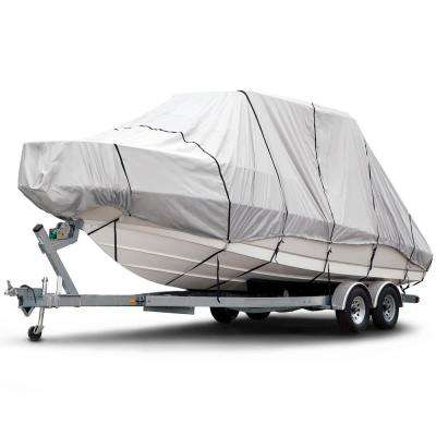 Sportsman 600 Denier 20 ft. to 22 ft. (Beam Width to 106 in.) Gray Hard Top/T-Top Boat Cover Size BTHT-6