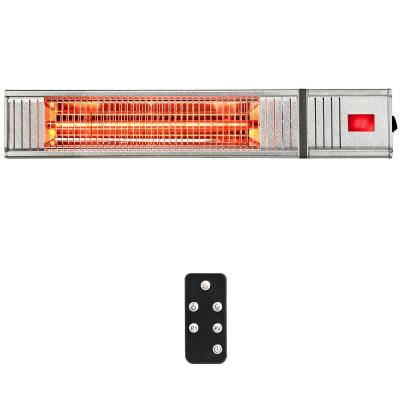 1500-Watt Electric Infrared Patio Space Heater with Remote Control and 24H Timer