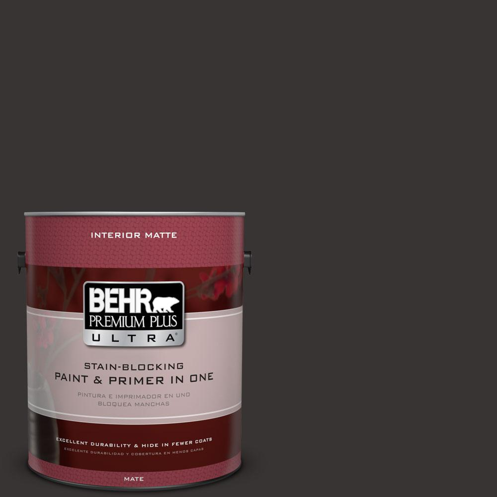 BEHR Premium Plus Ultra 1 gal. #ECC-27-3 Evening Canyon Flat/Matte Interior Paint