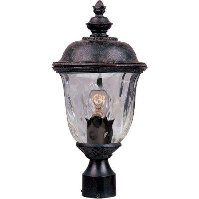 Carriage House Die-Cast 1-Light Oil-Rubbed Bronze Outdoor Pole/Post Mount