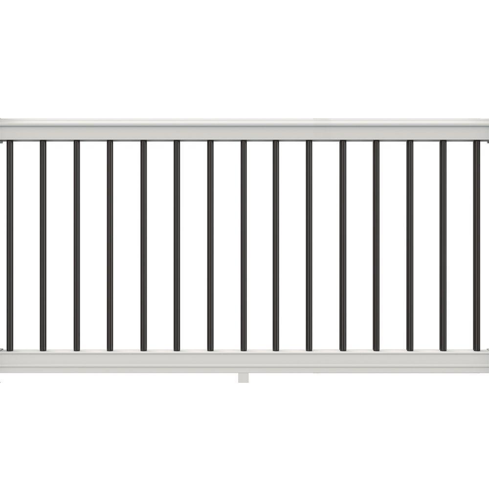 "YardSmart 73030536 Stockholm 36/"" Vinyl Rail Gate Kit with Aluminum Balusters White"