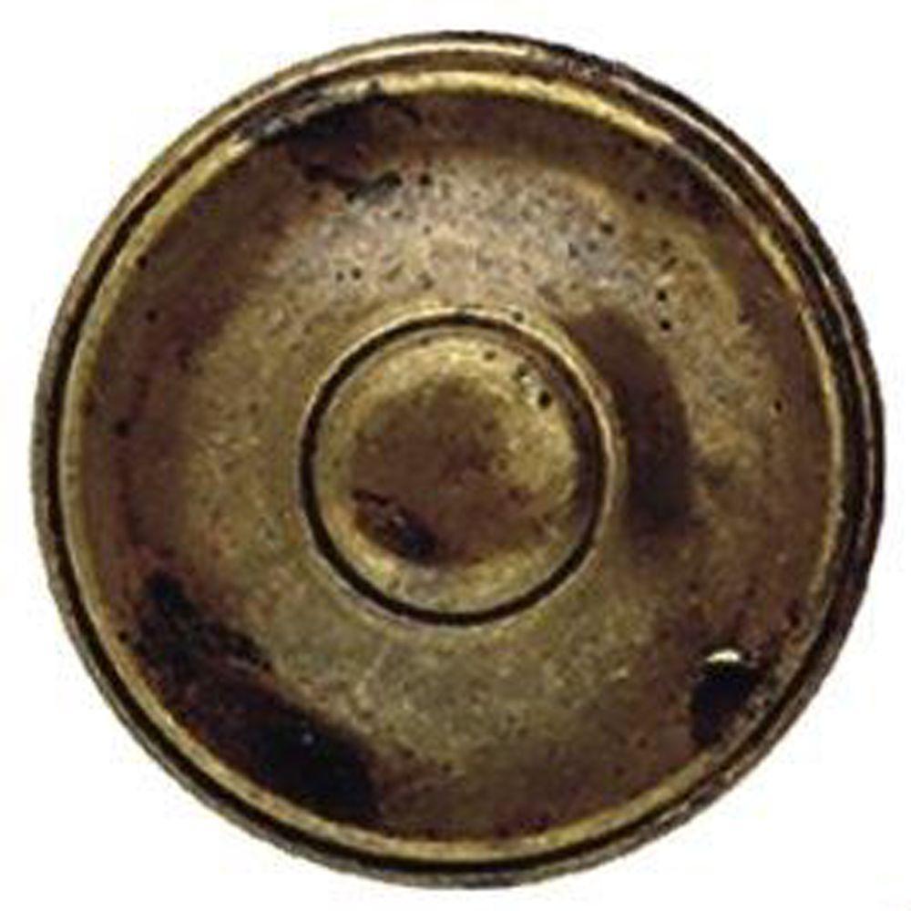 1.38 in. Polished Brass Round Knob