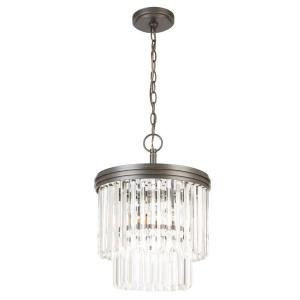 Hampton Bay 2 Light Oil Rubbed Bronze Crystal 2 Tier