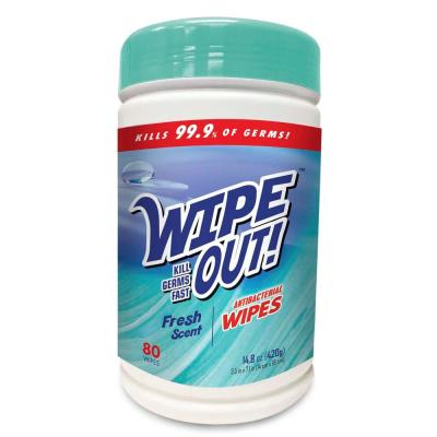 Wipe Out Fresh Scent Antibacterial Hand Wipes