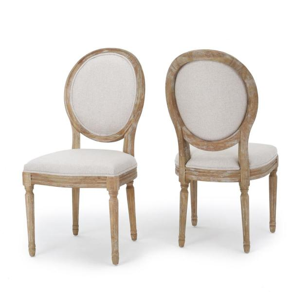 Phinnaeus Beige Fabric Dining Chairs (Set of 2)