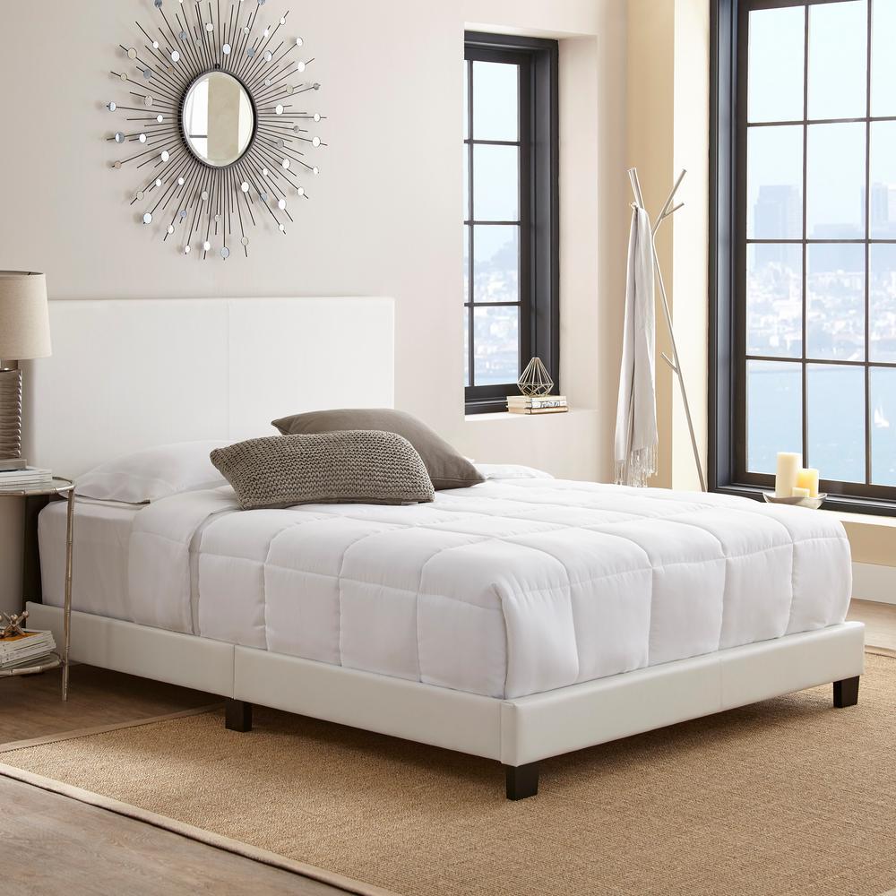 Barrett White Queen Upholstered Platform Bed