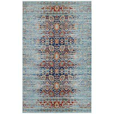 Naria Distressed Persian Medallion 8 ft. x 10 ft. Area Rug in Multicolored