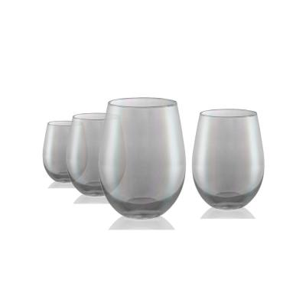Luster 16 oz. 4-Piece Smoke Stemless Glass Set