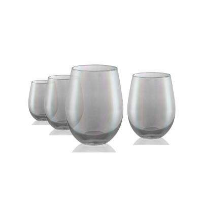 Luster 16 oz. 4-Piece Smoke Stemless Glass Set