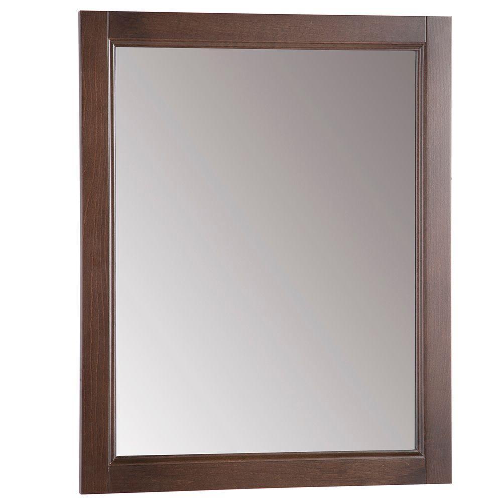 Chelsea 22 in. W x 27 in. H Wall Mirror in Cognac