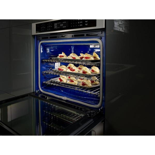 Kitchenaid 27 In Double Electric Wall Oven Self Cleaning With Convection In Stainless Steel Kode507ess The Home Depot