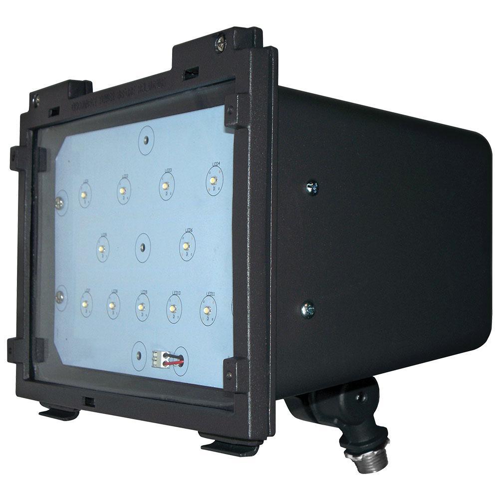 22-Watt Bronze Integrated LED Outdoor Adjustable Small Flood Light