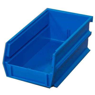 LocBin 14-3/4 in. L x 8-1/4 in. W x 7 in. H Blue Stacking, Hanging, Interlocking Polypropylene Bins, 6 CT