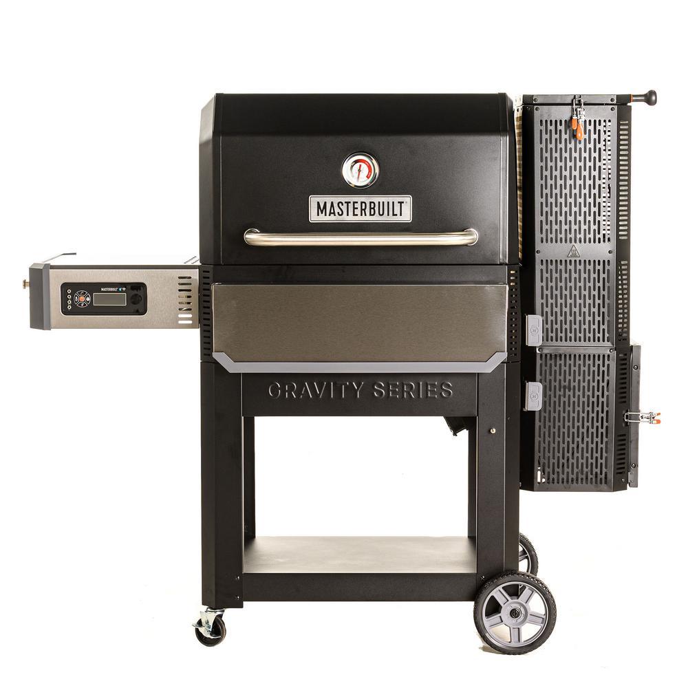 Gravity Series 1050 Digital Charcoal Grill Plus Smoker in Black