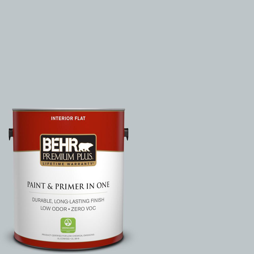 1 gal. #PPU12-10 Misty Morn Zero VOC Flat Interior Paint