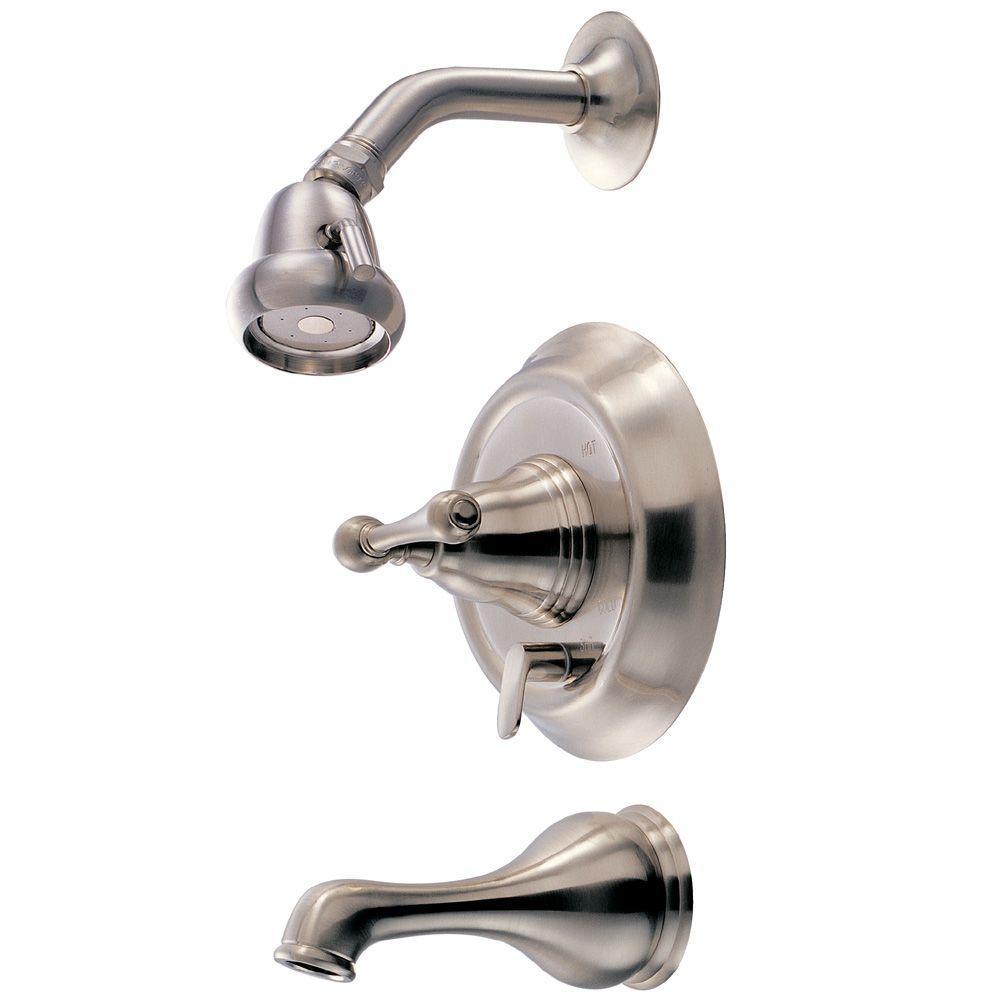 Pegasus Series 1100 1-Handle Pressure Balance Tub and Shower in Brushed Nickel-DISCONTINUED