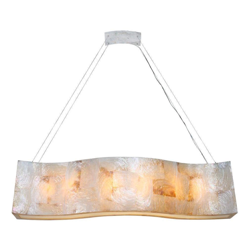 Varaluz Big 6 Light Kabebe Shell Linear Pendant