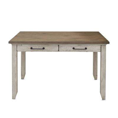 Bear Creek Rustic Ivory and Honey Multi-Function Table