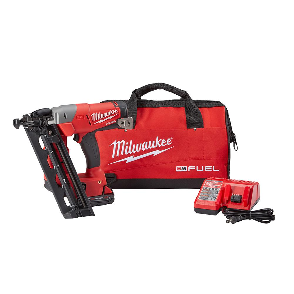 Reconditioned M18 FUEL 18-Volt Lithium-Ion Brushless Cordless 16-Gauge Angled