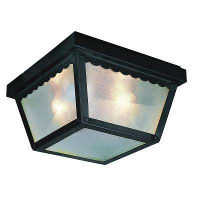 Samantha Rust 2-Light Outdoor Flush Mount Lantern