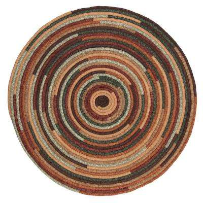 Riley Cabin Blend 4 ft. x 4 ft. Braided Round Area Rug
