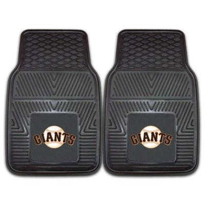 San Francisco Giants 18 in. x 27 in. 2-Piece Heavy Duty Vinyl Car Mat