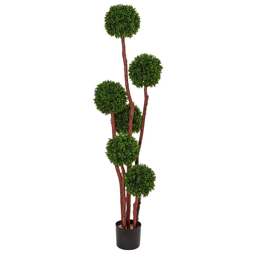 Indoor/Outdoor 5 ft. Boxwood Artificial Tree UV Resistant