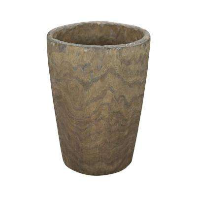 Heartwood 12 in. Wooden Decorative Vase