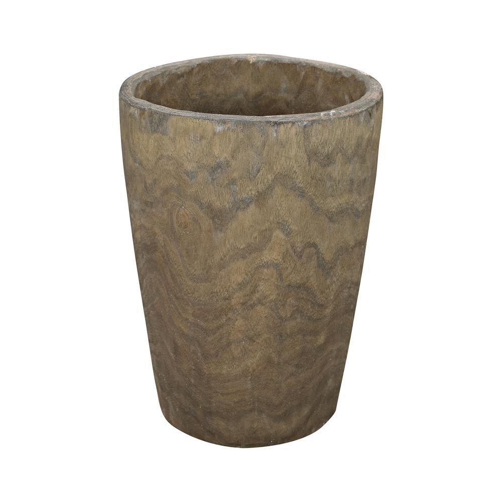 Heartwood 12 in. Wooden Decorative Vase