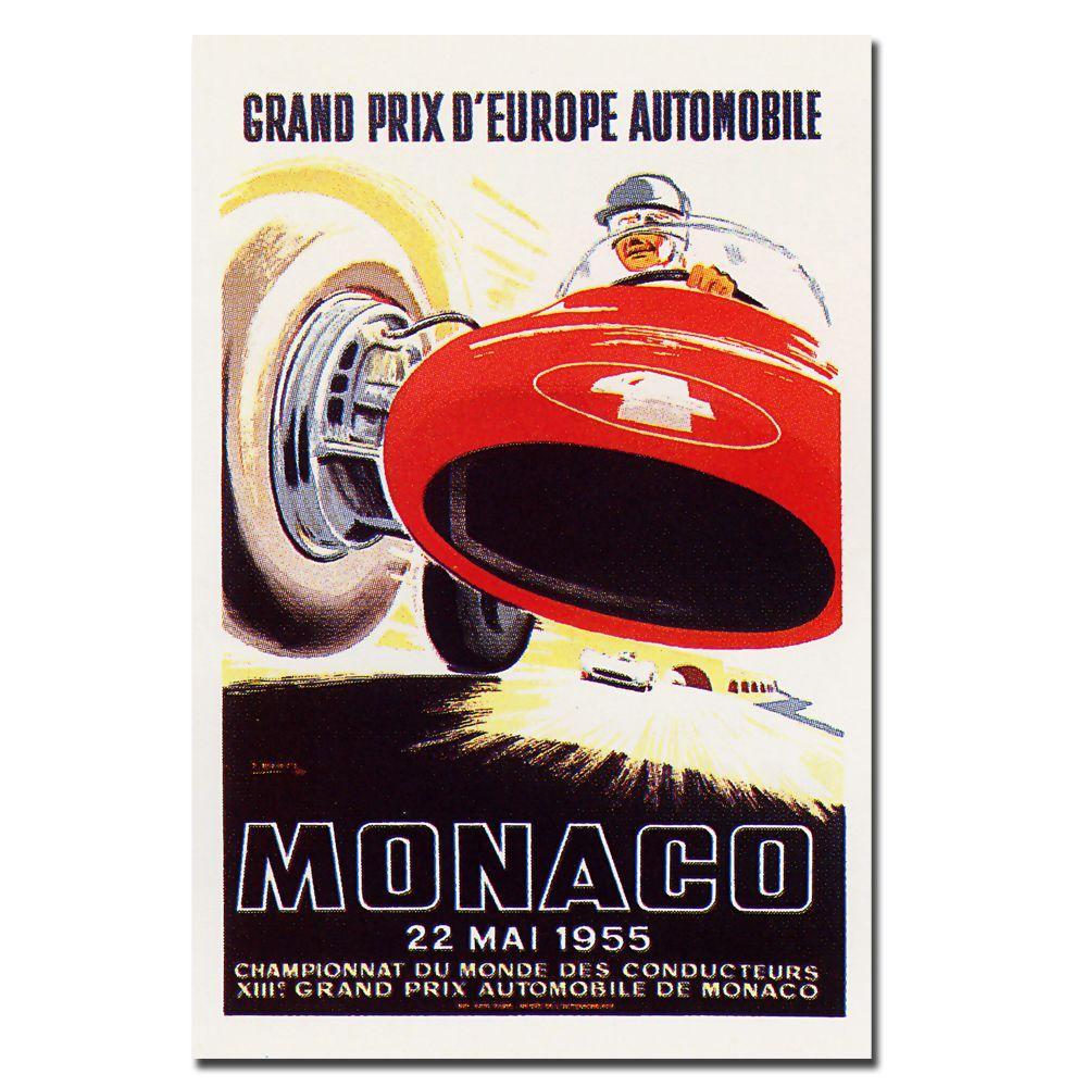 Trademark Fine Art 18 in. x 24 in. Monaco 1955 by Ramel Canvas Art