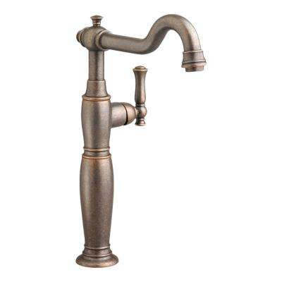Quentin Single Hole Single-Handle Vessel Bathroom Faucet with Grid Drain in Oil Rubbed Bronze