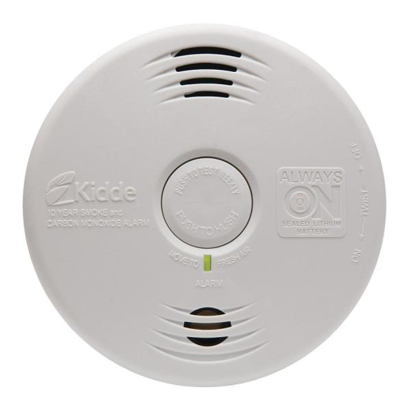 10-Year Worry Free Sealed Battery Smoke and Carbon Monoxide Combination Detector with Voice Alarm