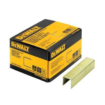 1 in. x 1 in. x 16-Gauge Galvanized Wide Crown Staple (2000 per Pack)