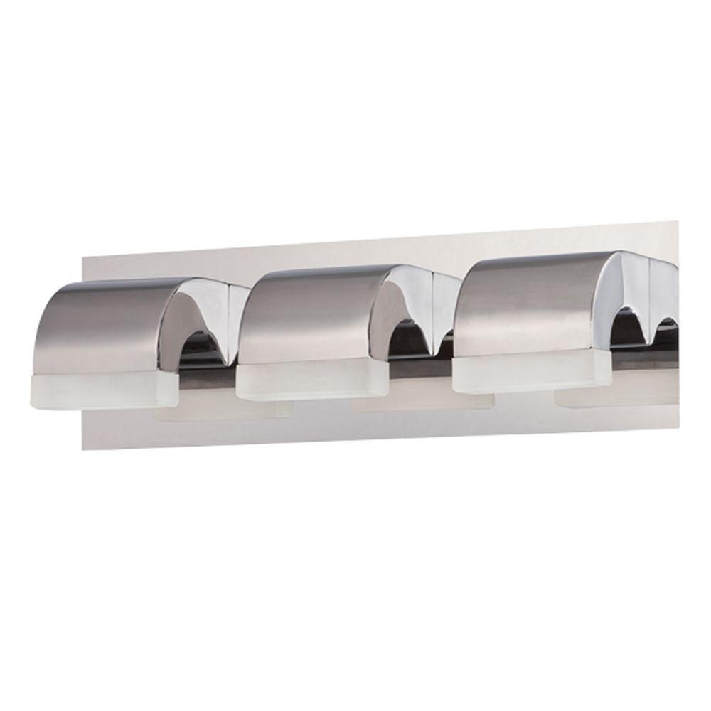 Eurofase newport collection 3 light chrome led bath bar - Chapter 3 light bar bathroom light ...