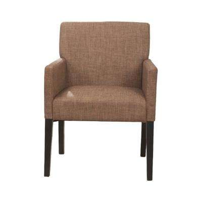 Brown Fabric Arm Chair