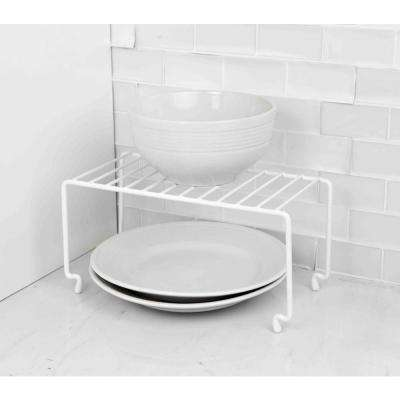 White Steel Stackable Dish Rack