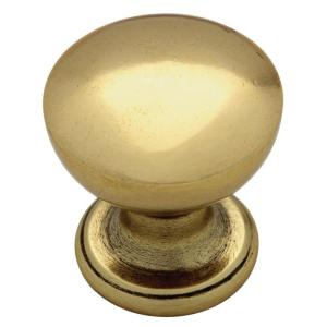 Goblet 1in. (26mm) Bedford Brass Round Cabinet Knob