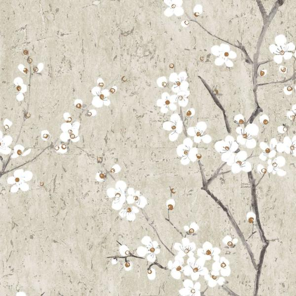 Graham & Brown Kyoto Sakura Pale Gold Wallpaper 102957