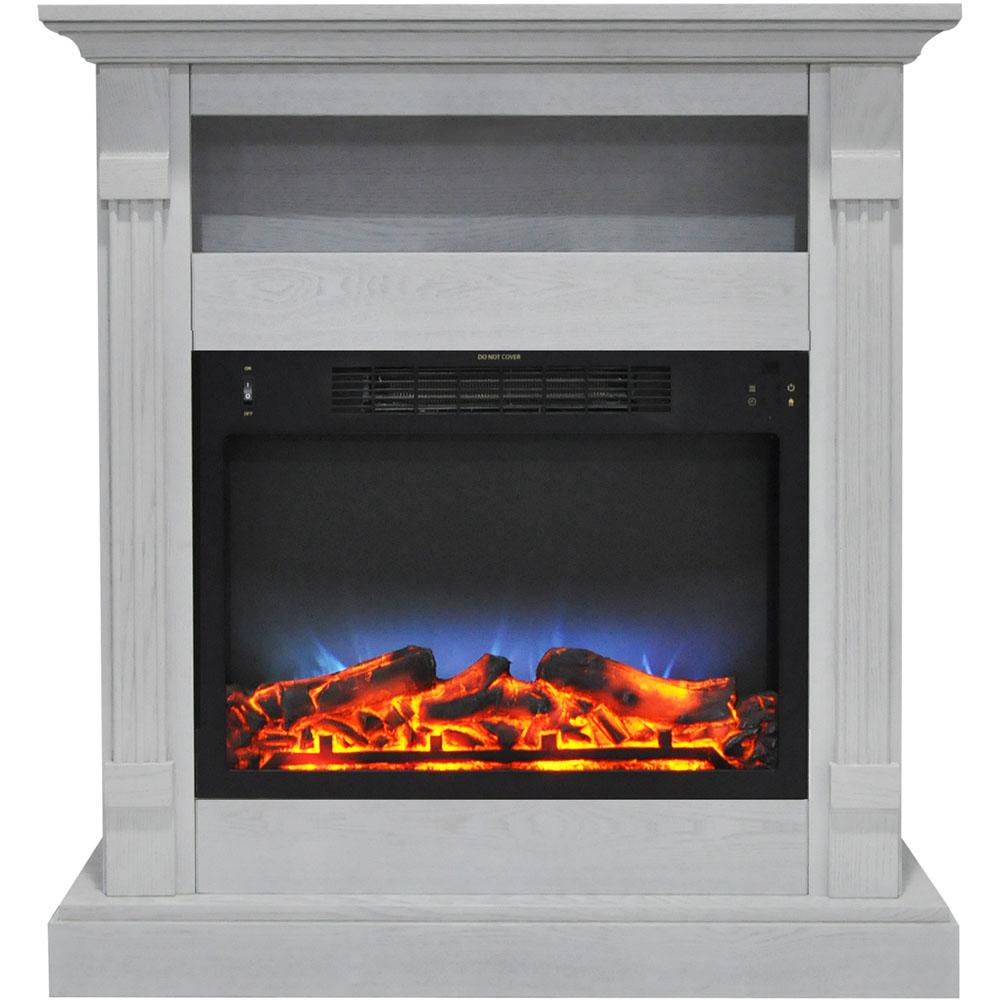 Real Flame Thayer 54 In Electric Fireplace In White 5010e W The Home