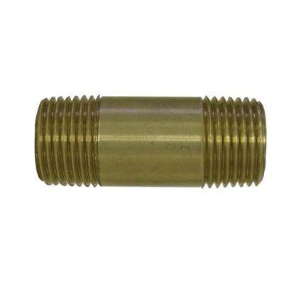1 in. x 3 in. MIP Red Brass Nipple Fitting