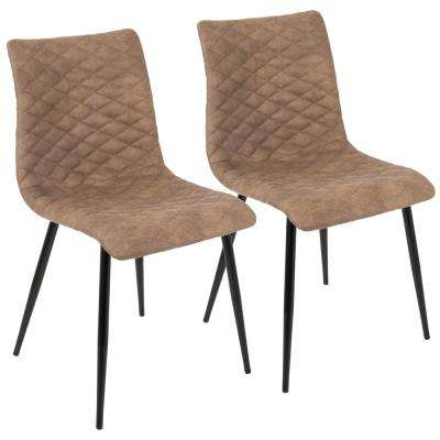 Eastwood Industrial Black And Brown Dining Chair Set Of 2