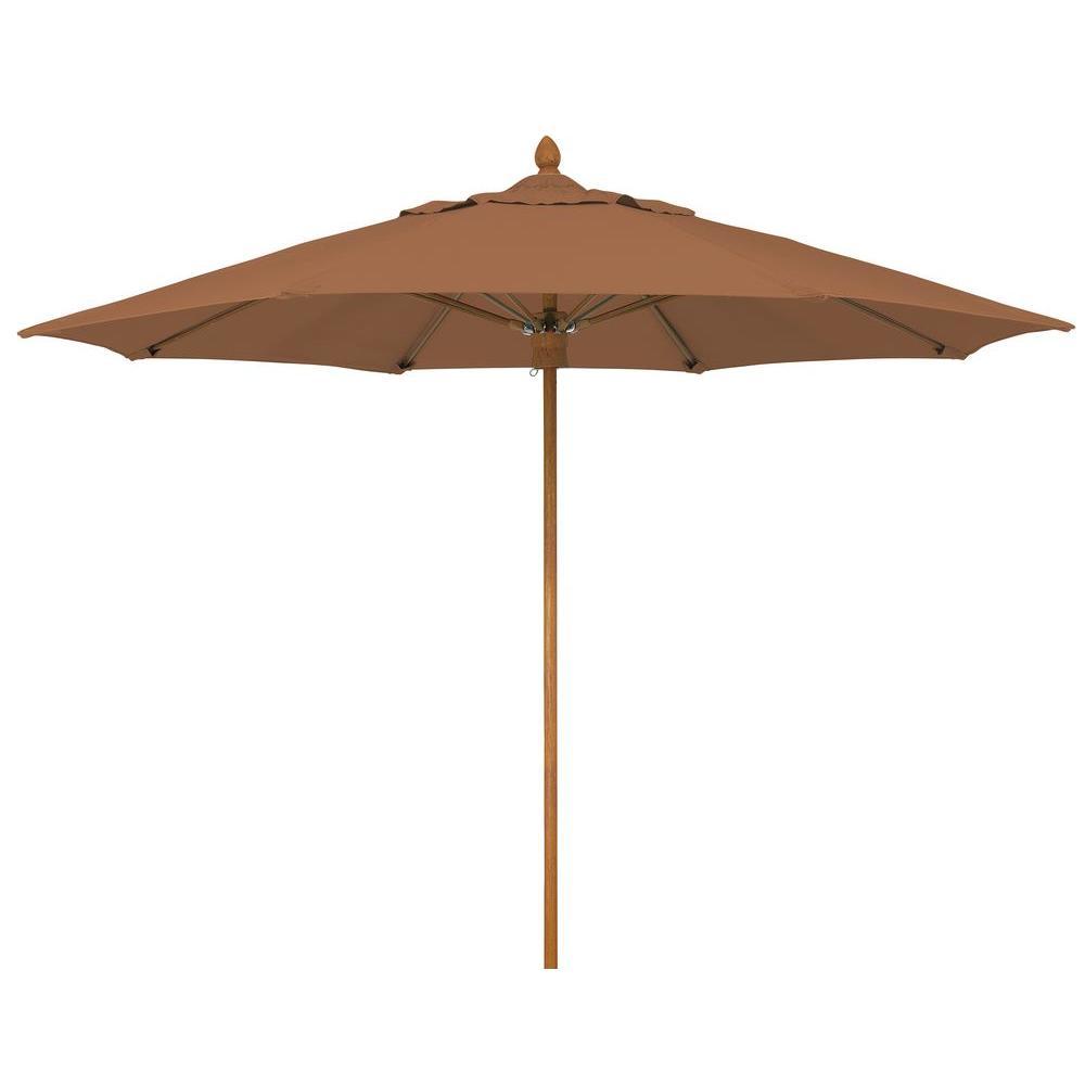 Fiberbuilt Umbrellas Bridgewater 9 ft. Patio Umbrella in Nutmeg-DISCONTINUED