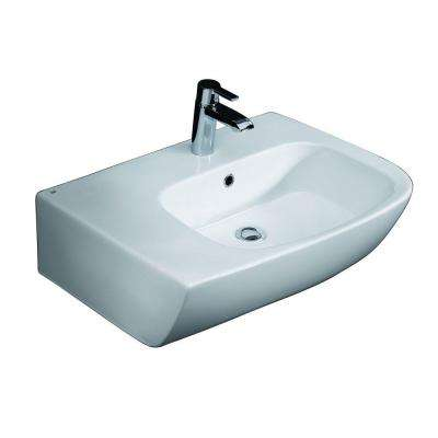 Elena Above Counter Bathroom Sink in White
